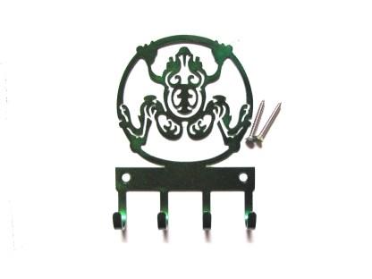 metal frog circle wall hooks, key holder
