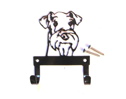 metal airedale terrier leash holder leash hooks