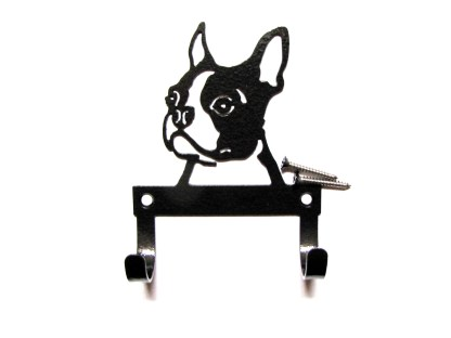 metal boston terrier leash hooks leash holder