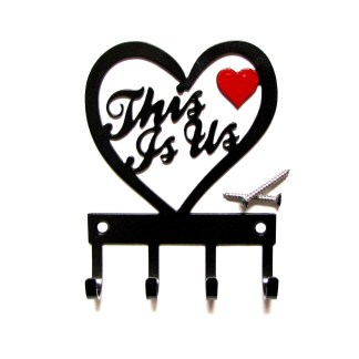metal this is us with heart wall hooks