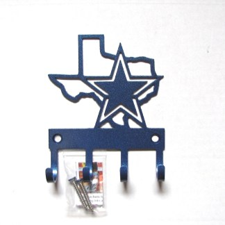 State of Texas with Star metal wall hooks, key holder