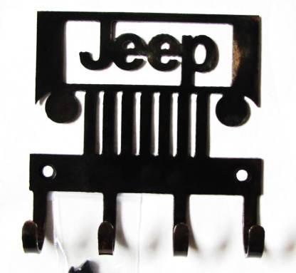 Metal Jeep Wall Hooks black