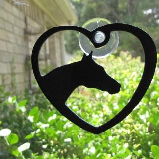 metal window art heart my horse love my horse