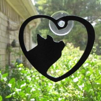 metal window art pig heart my pig