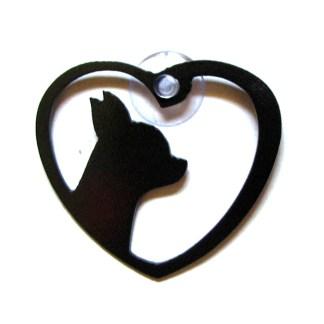 metal window art chihuahua heart my chihuahua