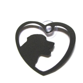 metal window art heart labrador heart my labrador