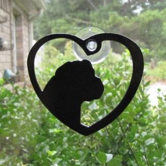 metal mastiff window art window ornament