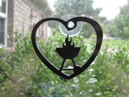 metal bbq window ornament window art
