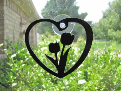 metal flowers window ornament