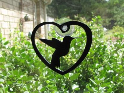 metal hummingbird window ornament window art