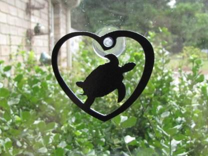 metal turtle window ornament window art
