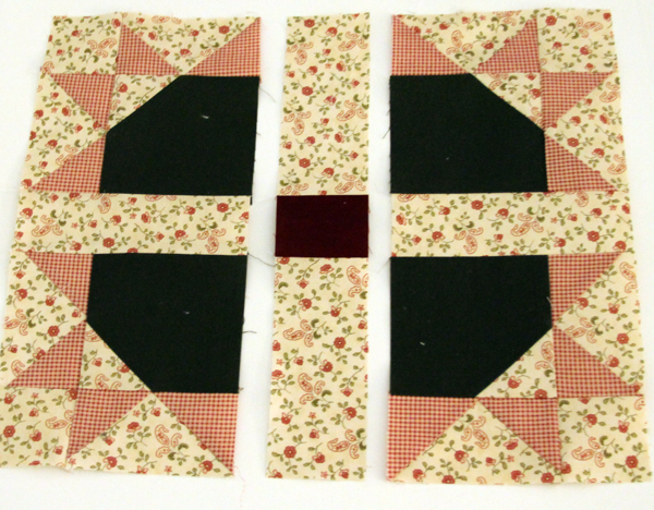 sew sashings to blocks