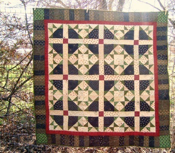 Block Three -- November -- Quilt as you Go
