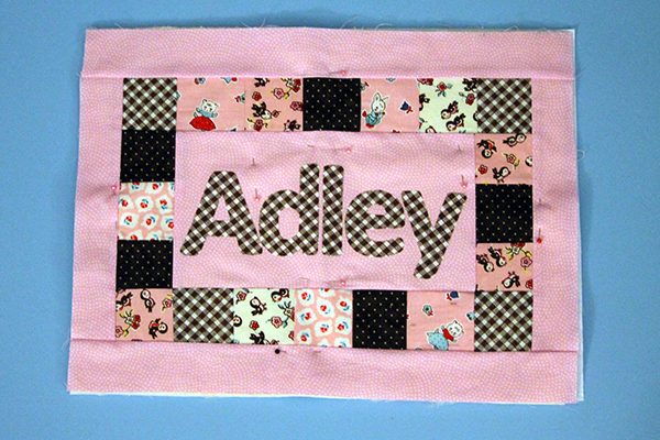 Quilted Name Pillow Tutorial