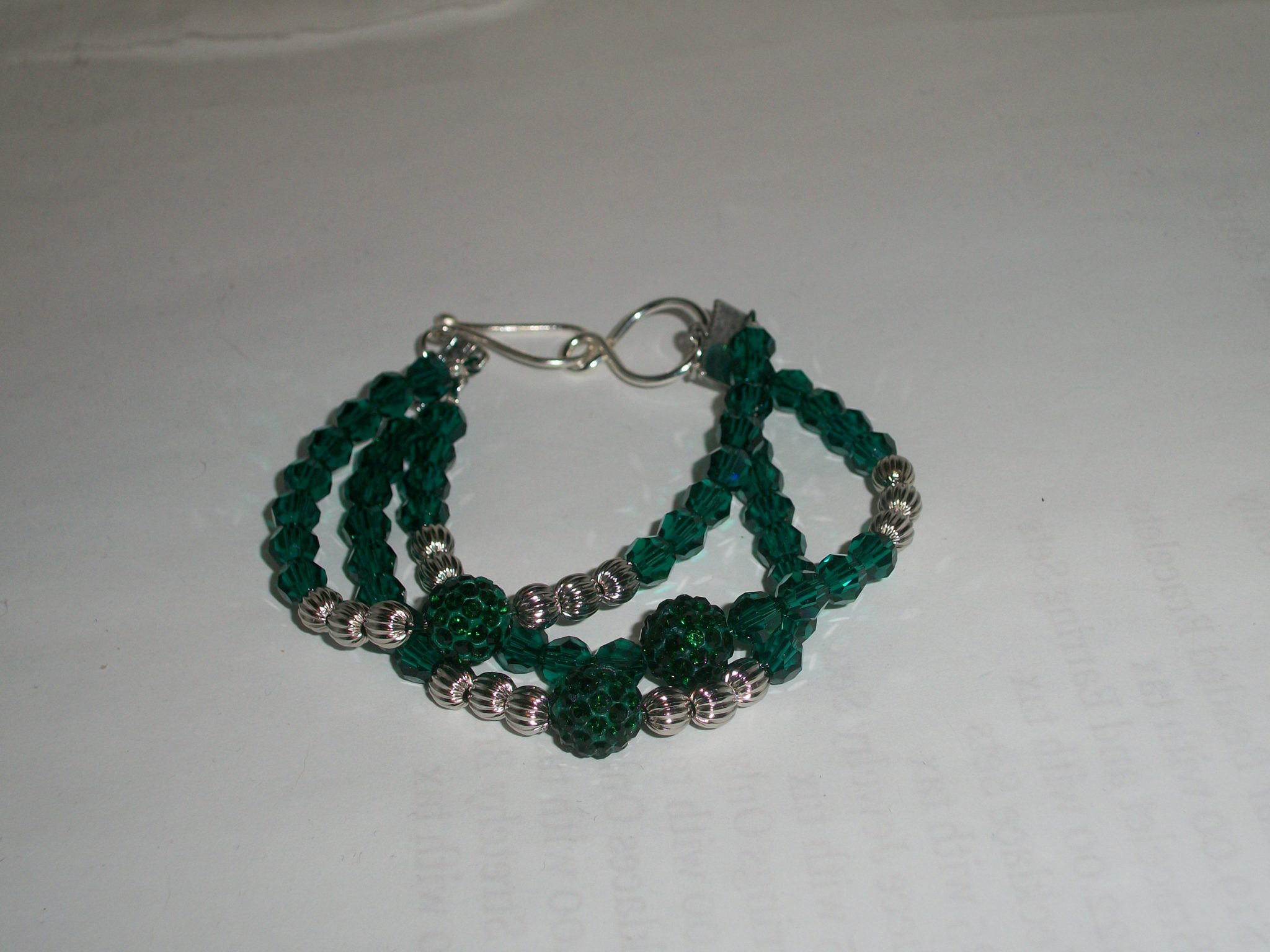 Emerald City Triple Strand Bracelet – Designs By Southernbelle