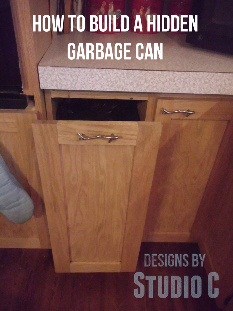 Build A Concealed Garbage Can Designs By Studio C
