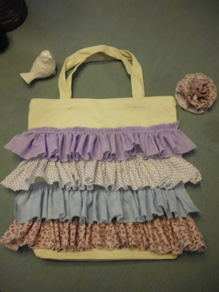 How to Make a Ruffled Tote Bag SANY0652