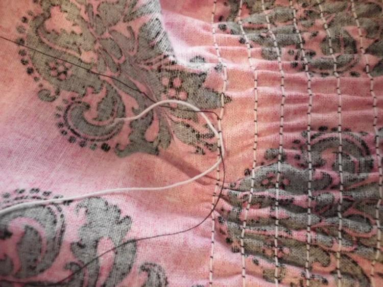 How to Use Elastic Thread to Make Smocked Fabric SANY0772