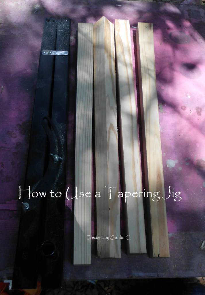 how to use a tapering jig on the table saw SANY1130 copy