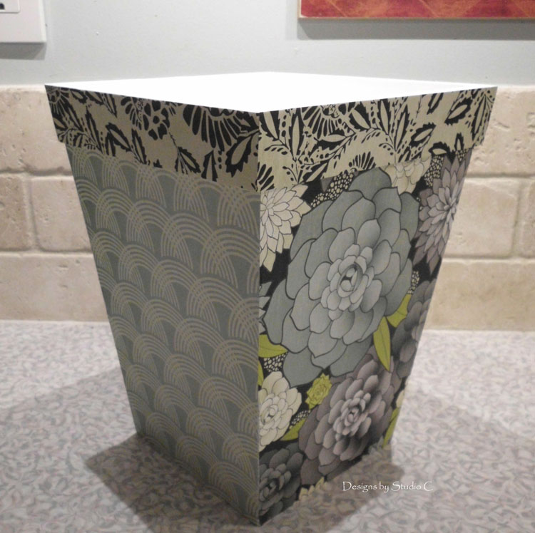 How to Give an Old Wastebasket a Makeover SANY1134