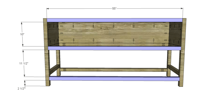 free plans to build a wisteria inspired chinese butcher table_Front Stretchers