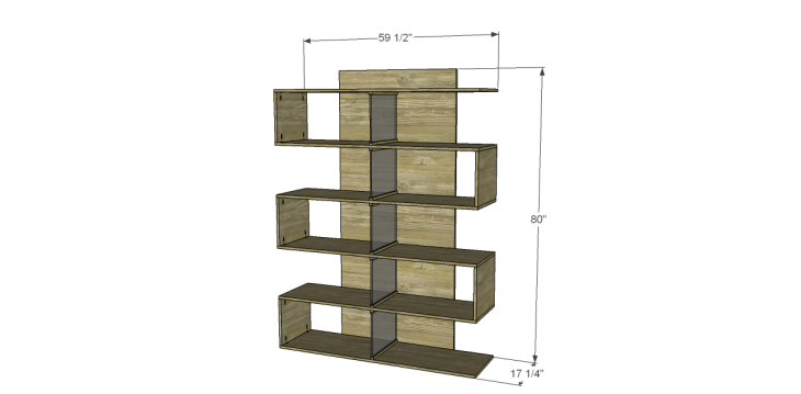 Free Plans to Build a Joss & Main Inspired Lucia Bookshelf