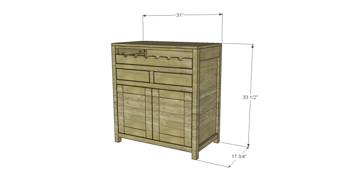 Free Plans to Build a Grandin Road Inspired Adele Wine Cabinet 1