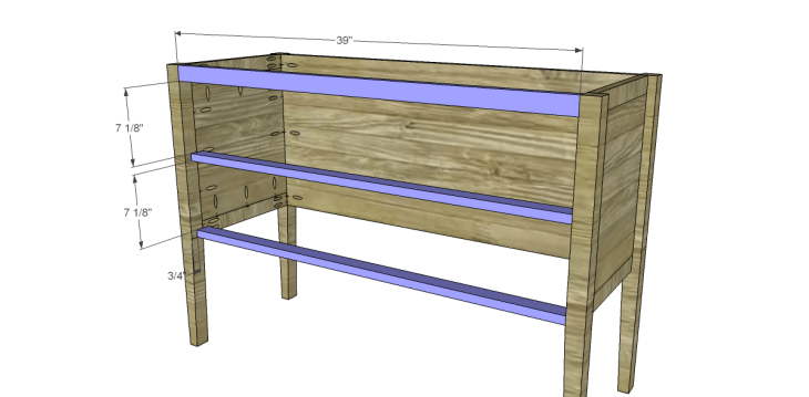 free furniture plans build gustavian console_Front Stretchers