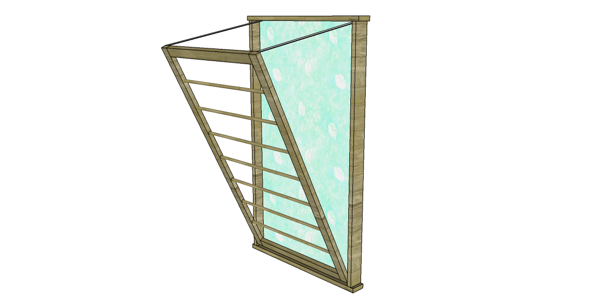 build a ballard designs beadboard drying rack designs by