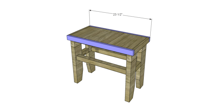 free plans build napa style inspired fair square benches_Long Aprons