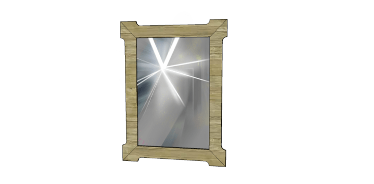 Free Plans to Build a Joss & Main Branford Mirror Frame_Mirror