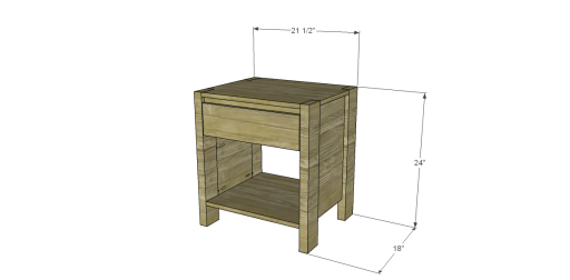 Free Plans to Build a West Elm Inspired Boerum Nightstand