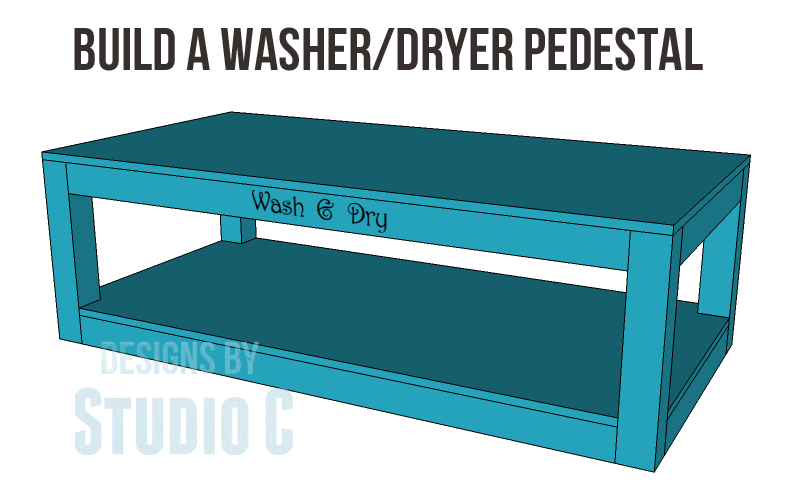 Build A Pedestal For A Washer Amp Dryer