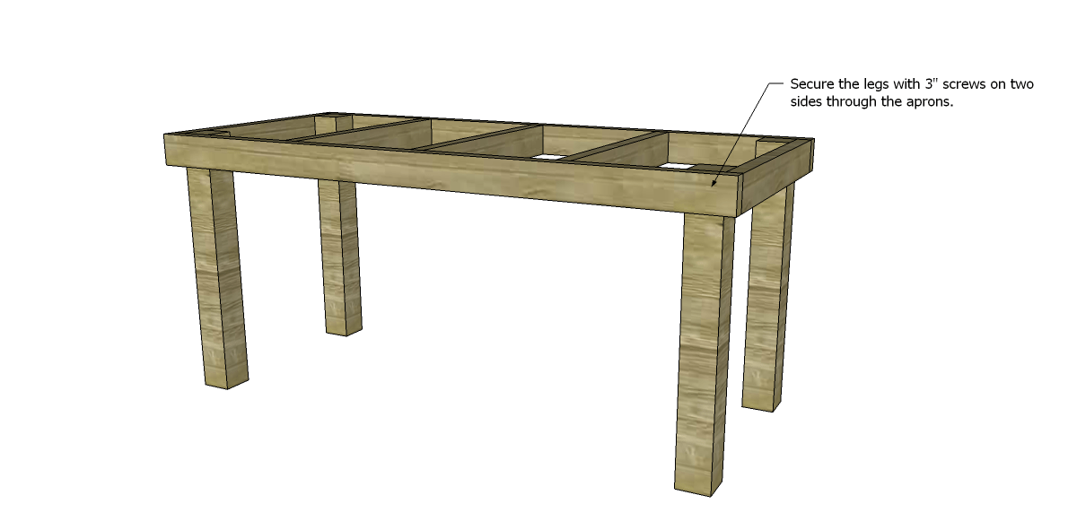 Build an easy work table designs by studio c for Easy table design