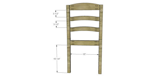 Free Plans to Build a Dining Chair 1_Back