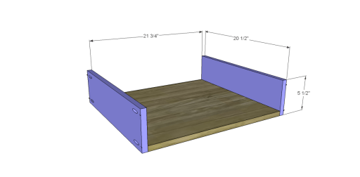 Free Plans to Build a New American Barnwood Kitchen Island_Drawer BS