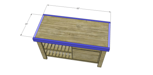 Free Plans to Build a New American Barnwood Kitchen Island_Top Trim