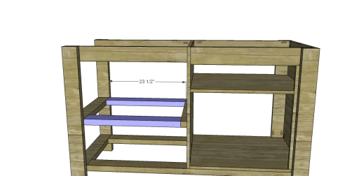 Free Plans to Build a New American Barnwood Kitchen Island_Upper Slat Supports 2