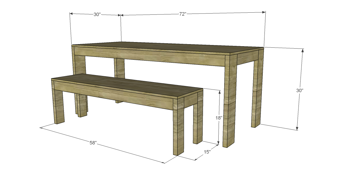 Free Plans To Build A West Elm Inspired Boerum Dining Table And Benches Designs By Studio C