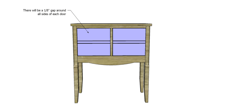 free plans to build a seventh ave inspired janikka table_Doors 2