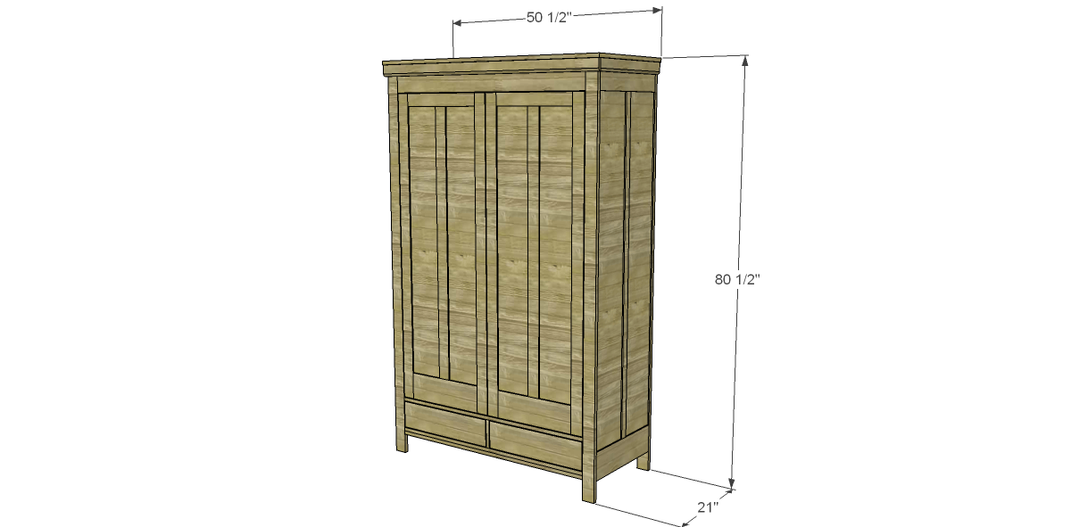 The Free Plans To Build A 19th Century American Wardrobe Features A Closet  Rod Inside The Cabinet And Two Large Drawers. Shelving Can Be Substituted  For The ...