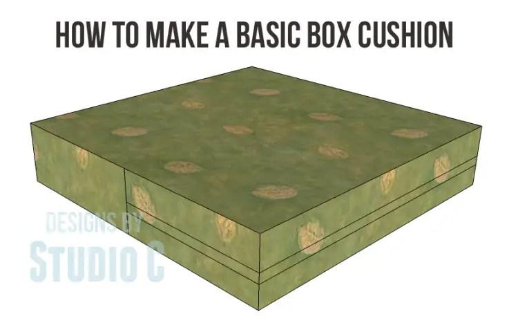 How To Make A Basic Box Cushion
