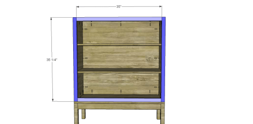 Free Plans to Build a Viva Terra Inspired Tradewinds Armoire_Front Frame
