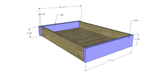 Free Plans for a Joss & Main Inspired Lodge Coffee Table_Drawer FB