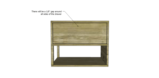Free Plans to Build a One Kings Lane Inspired Harrison End Table_Drawer