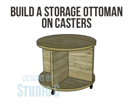 Build A Storage Ottoman On Casters