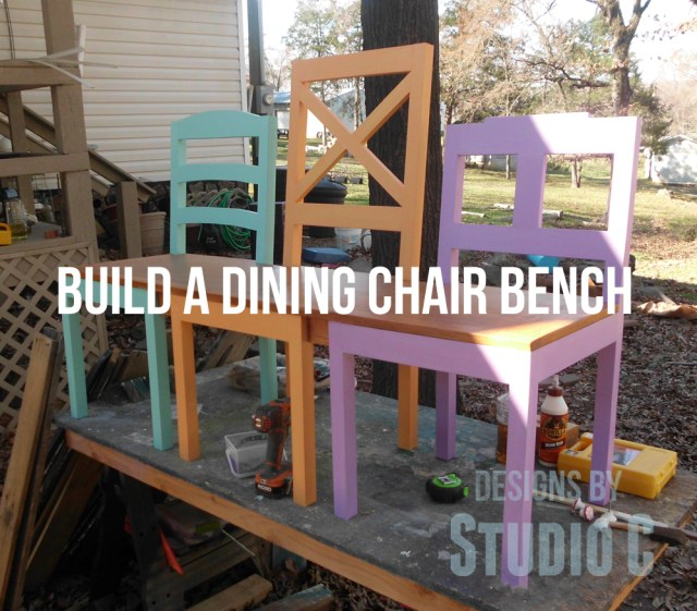 free plans to build a dining chair bench copy