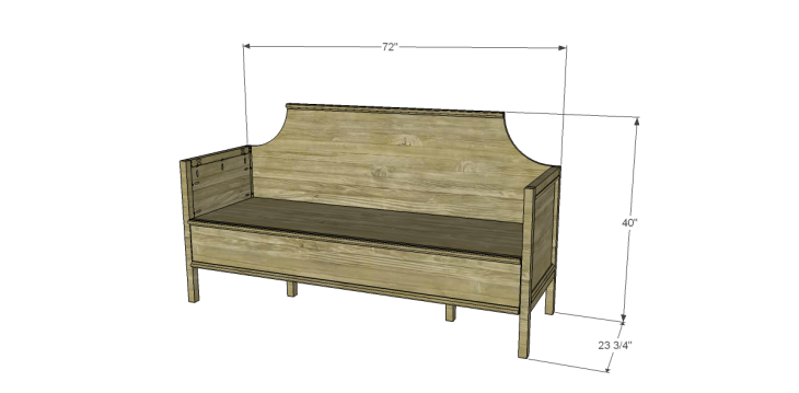 Free Plans to Build a Wisteria Inspired Gustavian Sofa