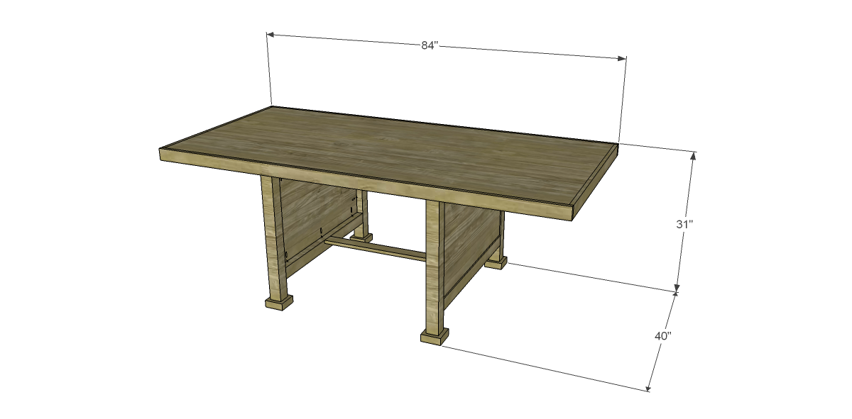 Free Plans to Build a Joss amp Main Inspired Wesley Dining  : Table from designsbystudioc.com size 1200 x 591 png 72kB