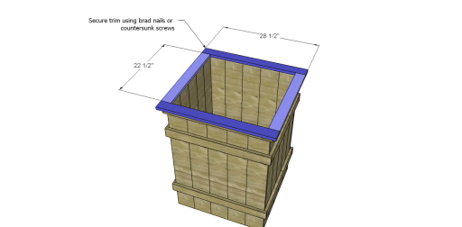 Free Plans to Build Robin's Planter Boxes_Trim